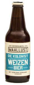 in ons steakhouse schenken wij bieren van Maallust. Dit is een weizen, welke niet glutenvrij is.DE kOLONIST 5% . Smaak; romig, citrus, vol Afdronk; licht bitter, fruitig Kleur; licht geel, troebel. In ons buffetrestaurant schenken wij dit bier uiteraard ook. Het restaursnt vind u in de buurt van Assen.